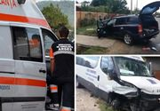 Accident grav in Arges! Un microbuz plin cu pasageri a fost lovit frontal