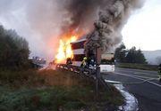 Un autocar romanesc a explodat in mers pe o autostrada din Austria! Care este starea victimelor! Peste 60 de pompieri au intervenit de urgenta