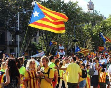 Proteste ample in Catalonia, la un an de la referendumul pentru independenta
