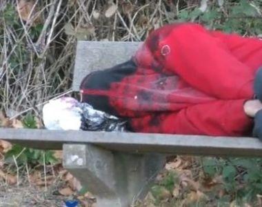 A plecat sa duca o viata mai buna in Germania, dar a ajuns sa doarma pe banca, in...