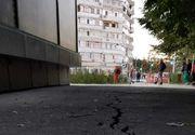 Panică în Galaţi după ce o fisură lungă de 25 de metri a apărut în asfaltul din centrul oraşului