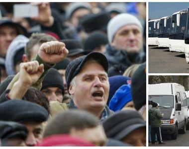 România paralizată! Microbuzele şi autocarele nu vor circula astăzi, în urma unei greve...