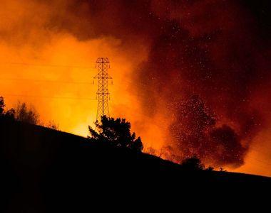 Incendiu de pădure în Braşov, focul manifestându-se pe o suprafaţă de o mie de metri...