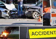 Accident devastator în Mureş. O persoană a murit şi alte şapte sunt în stare gravă. În urma impactului, o maşină a luat foc