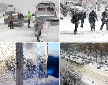 Iarna îşi intră în drepturi! Duminică temperaturile scad cu 10 grade Celsius