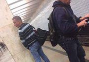 Scene scandaloase la metrou! Un tânăr şi-a făcut nevoile chiar pe peron, în văzul tuturor