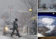 Vreme severă în toată ţara! Coduri galben şi portocaliu de ninsori şi vânt puternic, până mâine seară