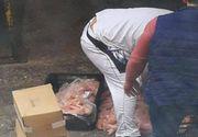Imagini halucinante într-un campus studenţesc din România! Carne care urma să fie gătită, 'depozitată' pe asfalt!