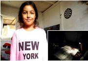 Ştefi, o fetiţa de numai 8 ani din Capitală, care învaţă la lumina lanternei, riscă să ajungă din nou în stradă. Primăria nu poate promite familiei nici măcar un container