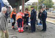 O bătrână din Vrancea a scăpat nevătămată după ce a dat trenul peste ea