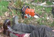 Un adolescent din Suceava şi-a tăiat fratele mai mic cu drujba