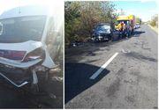 Accident cu patru victime în Dolj, după ce o dubă şi un autoturism s-au ciocnit! Printre ele se află şi un copil de trei ani