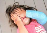 Bătută cu bestialitate de propriul tată. Fetiţă de 8 ani izbită de pereţi şi abandonată în frig. Motivul este halucinant