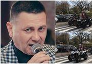 Zeci de membri ai Brigăzii ATV din Iaşi l-au condus astăzi pe ultimul drum pe cântăreţul Bogdan Chiroşcă
