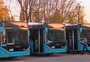 Primele 20 de autobuze noi din cele 400 comandate de primaria Capitalei au ajuns astazi in Bucuresti