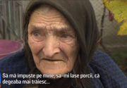 """Disperarea unei bătrâne de 92 de ani! S-a închis în coteţ cu porcii ca să nu-i fie luaţi: """"Sunt femeie de război şi acum să vină după porci?"""""""