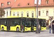 Sibienii vor avea transport în comun de ultimă generaţie! Noile autobuze au fost prezentate astăzi, în Piaţa Mare