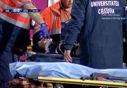 Momente de panică pe stadionul din Iaşi! Mihăilă, tânărul de 18 ani al Craiovei, a căzut inconştient pe teren în timpul meciului cu echipa locală