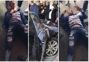 Clipe de panică la Brăila! Un tânăr beat şi probabil drogat a semănat teroare printre clienţii unui mall, intrând cu maşina în mulţime