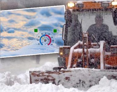 Aerul siberian a lovit România! Vreme rece, lapoviţă şi ninsori până duminică, în toată...