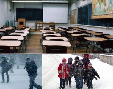 Primele şcoli închise. Cursuri suspendate luni şi marţi