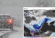 Cum arată ciclonul care loveşte România! Imagini din satelit: aerul rece ia cu asalt ţara