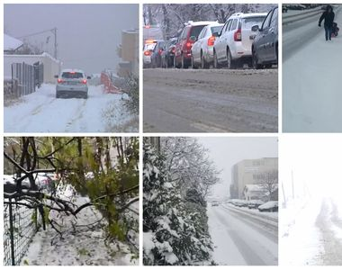 Prima ninsoare serioasă din România a luat pe nepregătite autorităţile, deşi a fost...