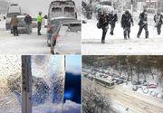 Iadul alb s-a dezlănţuit în România! Condiţiile meteo au provocat mai multe accidente rutiere