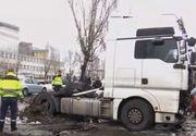 10 masini avariate dintr-un foc de un sofer de TIR beat! Bărbatul a arat tot ce i-a stat in cale