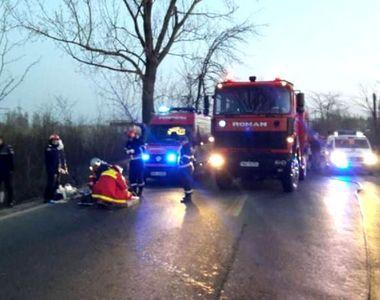 Accident cumplit în Mogoşoaia, în această dimineaţă! Traficul a fost complet blocat