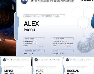 Omagiaţi de străini. Numele membrilor trupei Goodbye to Gravity au ajuns pe Marte....