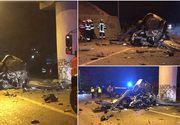 Accident dramatic, în Bistriţa! Un tânăr a intrat cu viteză într-un stâlp. Oamenii legii nu exclud varianta sinuciderii