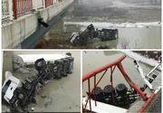 Accident teribil în Dâmboviţa: A derapat şi a plonjat în râul Ialomiţa!