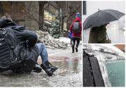 Poleiul a făcut pagube uriaşe în toată ţara!  Accidentele s-au ţinut lanţ din cauza vremii rele