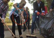 Gabriela Firea a devenit tinta ironiilor pe Facebook dupa ce a dat cu matura intr-un parc din Capitala