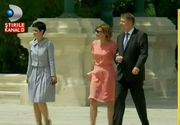 Noi reguli de protocol la Palatul Cotroceni. Klaus Iohannis isi primeste musafirii in alt stil. Prima doamna pare insa incurcata. Azi, ochelarii de soare i-au dat de furca
