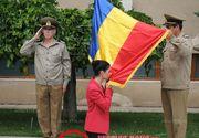 Incident stanjenitor la ceremonia dedicata Zilei Drapelului de la Vaslui. Deputatul Ana Birchall s-a asezat in genunchi in fata steagului, dar i-au sarit pantofii din picioare!