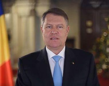 """Presedintele Klaus Iohannis, mesaj pentru romani de Anul Nou: """"Nu va pierdeti..."""