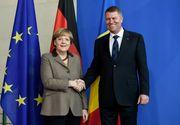 Angela Merkel l-a asigurat pe Iohannis de sprijin in continuarea luptei anticoruprie