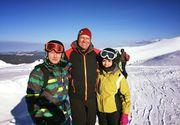 Presedintele Klaus Iohannis, la schi in Muntii Sureanu, unde s-a fotografiat cu turistii