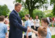 Iohannis a sarbatorit 1 Iunie impreuna cu copii din lotul Special Olympics Romania