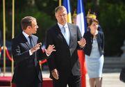 """Klaus Iohannis, dupa intalnirea cu Emmanuel Macron: """"Romania isi doreste sa devina un membru re-fondator al UE"""""""