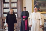 Papa Francis vine in Romania! Informatia momentului, dupa intalnirea dintre Viorica Dancila si Suveranul Pontif