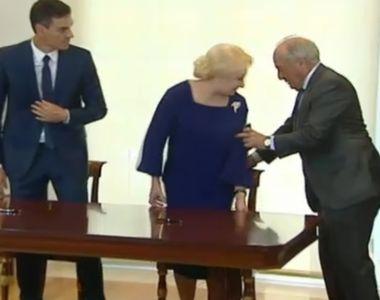 Dancila s-a intalnit cu premierul Spaniei. Ce gafa a facut premierul nostru si cum a...