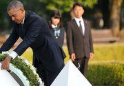 Vizita istorica a lui Barack Obama la Hiroshima! Este primul presedinte american care merge acolo de la lansarea bombei atomice!