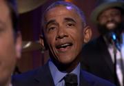 "Barack Obama a interpretat melodia ""Work"", a Rihannei, la o emisiune televizata"