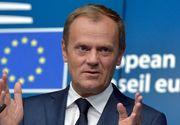 """Presedintele Consiliului European, Donald Tusk: """"UE nu este doar un proiect al vremurilor bune"""""""