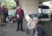 "O familie de romani s-a stabilit sub un pod din Londra: ""Vrem sa ne intoarcem acasa, dar n-avem bani de bilet"""