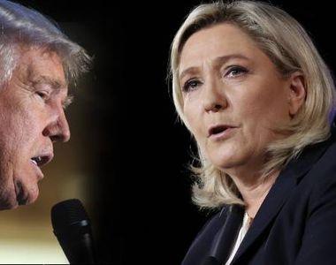 """Marine le Pen: """"Daca as fi americanca, as vota cu oricine altcineva in afara de..."""