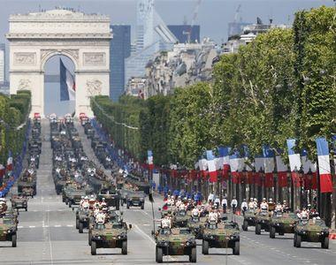 Parada militara spectaculoasa in capitala Frantei cu ocazia Zilei Nationale